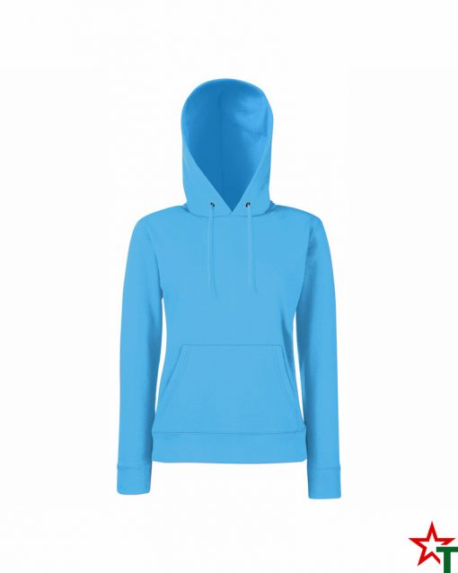 Azure Blue Дамски суитшърт Lady Hooded Sweat