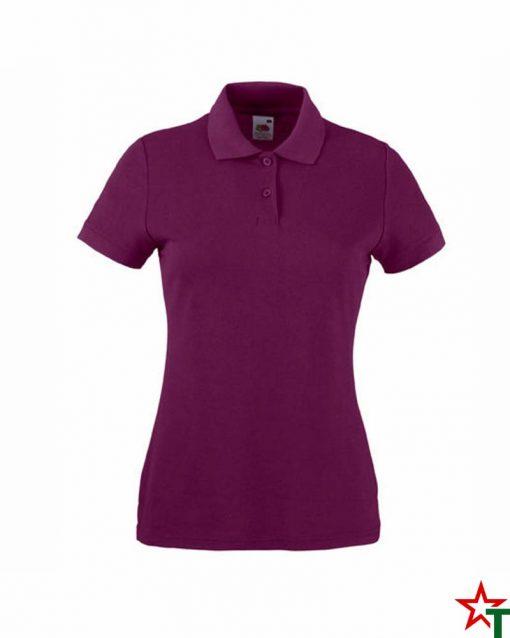 Burgundy Дамска тениска Lady POLO Mix