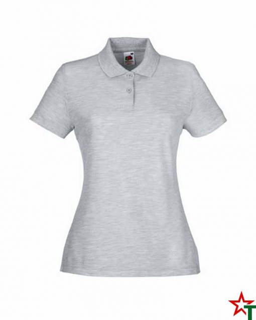 Heather Grey Дамска тениска Lady POLO Mix