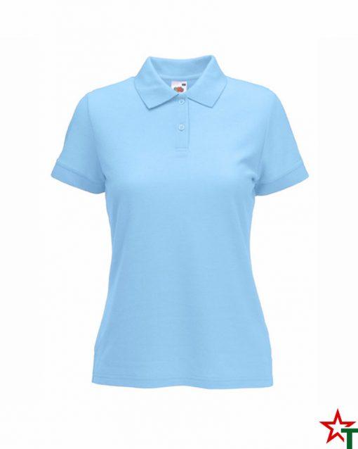 Sky Blue Дамска тениска Lady POLO Mix