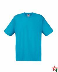 BG92 Azure Blue Мъжка тениска Fruit of the Loom