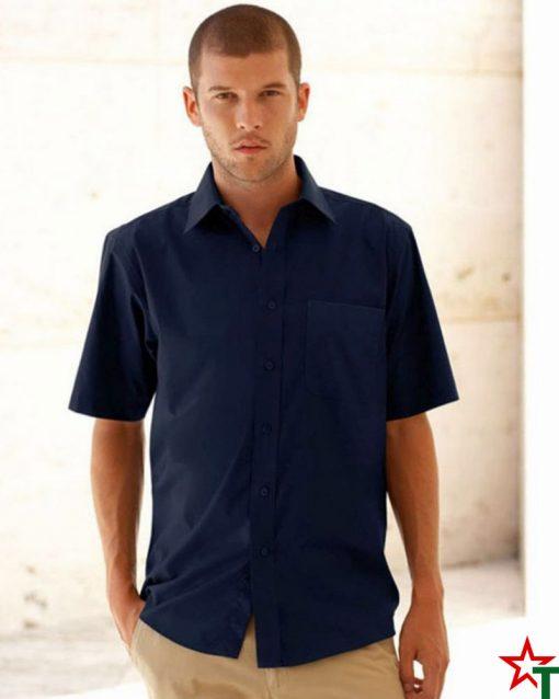 Мъжка риза с къс ръкав с джоб