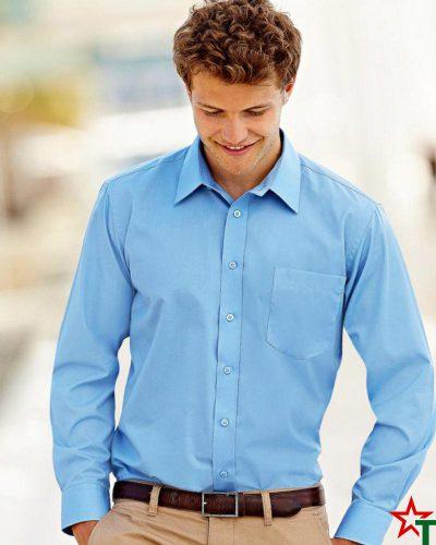 Мъжка риза с дълъг ръкав и джоб