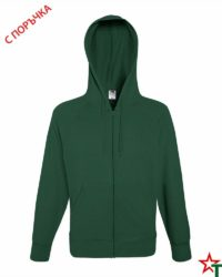 Bottle Green Мъжки суитчър Light Hooded