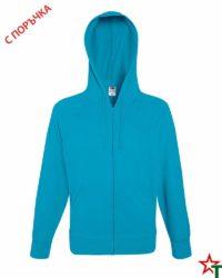 Azure Blue Мъжки суитчър Light Hooded