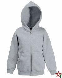 Heather Grey Детски суитчър Premium Hooded