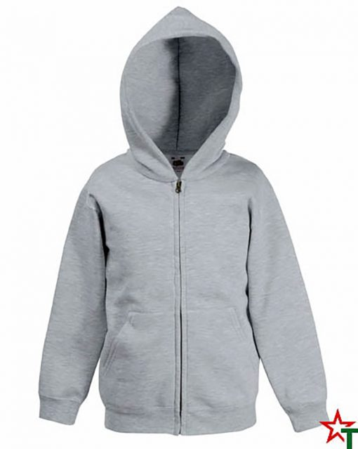 Heather Grey Детски суитчър Premium Hooded