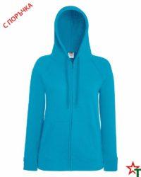Azure Blue Дамски суитчър Lady Light Hooded