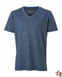Blue Melange Мъжка тениска Ryan