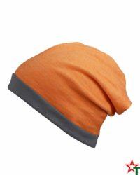 Orange-Melange-Grey Лятна шапка Rops