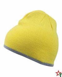 Yellow-Melange Gray Зимна шапка Noel