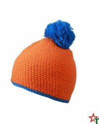 Orange Зимна шапка Pompon