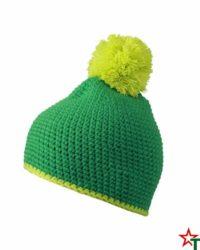 Green Зимна шапка Pompon