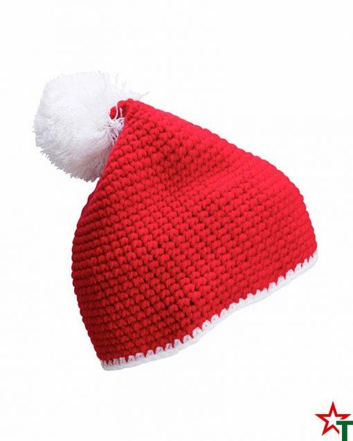 Red-White Зимна шапка Pompon