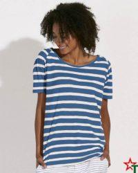 White-Royal Blue Дамска тениска Stella Crossline