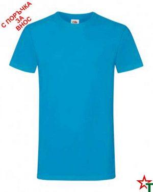 592 Azure Blue Мъжка тениска Simon Soft
