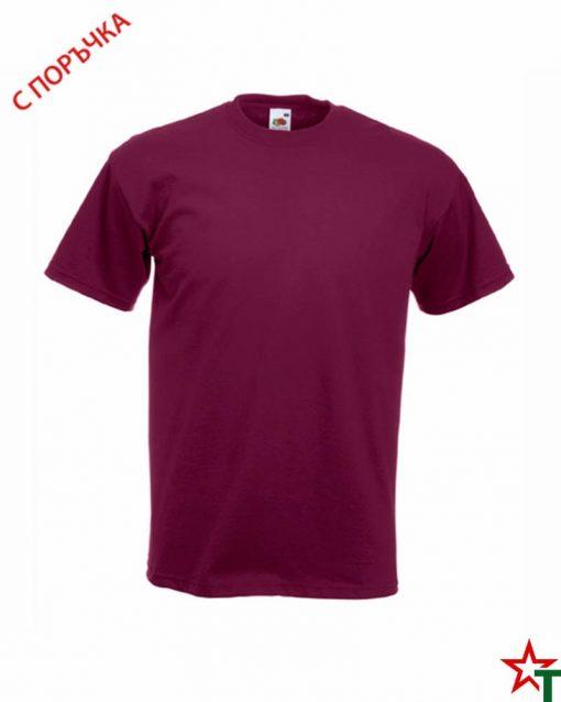 Burgundy Мъжка тениска Porter P