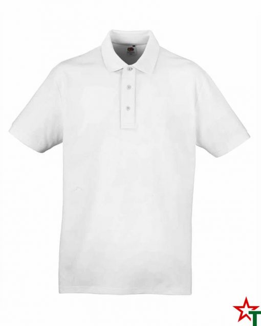 White Риза Polo Cotton Heavy