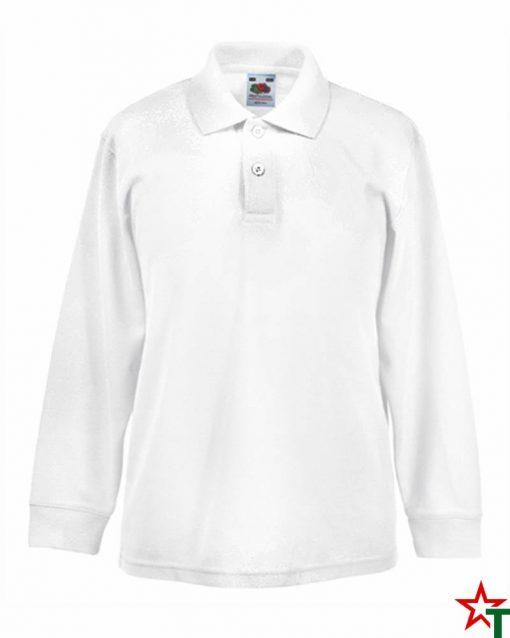 White Детска риза Polo Long