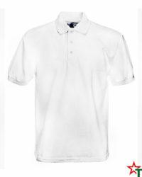 White Риза Polo Heavy 65/35