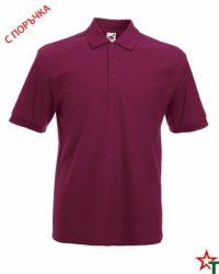 Burgundy Риза Polo Heavy 65/35