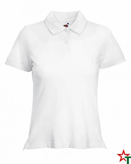 White Дамска риза Polo Cotton Mix Lycra