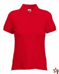 Red Дамска риза Polo Cotton Mix Lycra