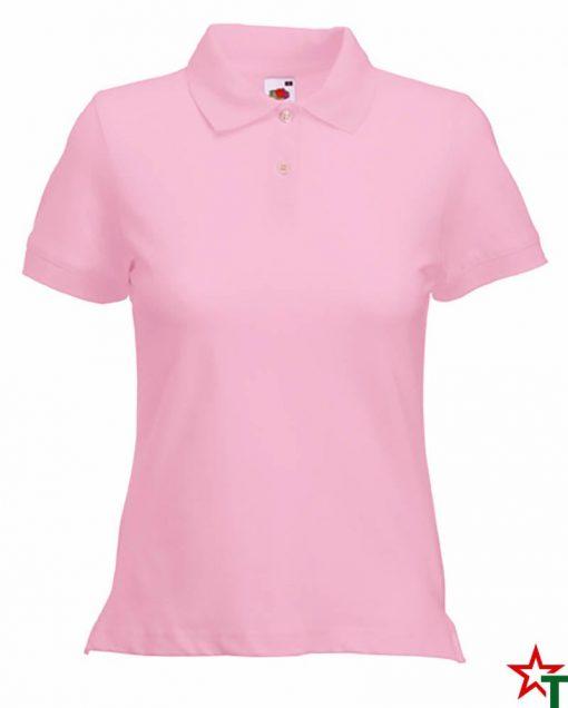 Light Pink Дамска риза Polo Cotton Mix Lycra