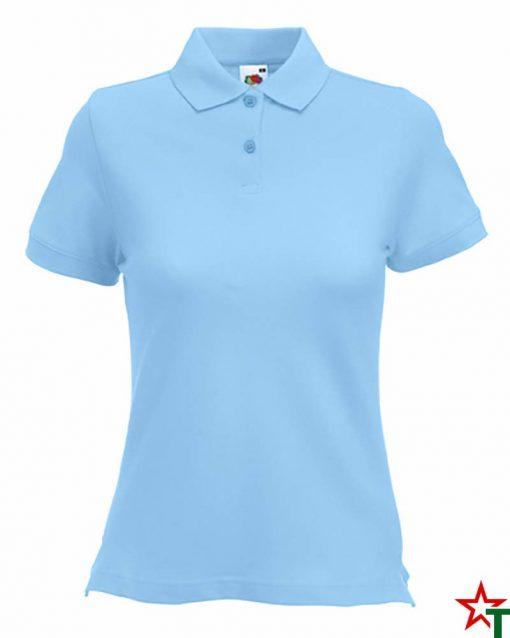 Sky Blue Дамска риза Polo Cotton Mix Lycra