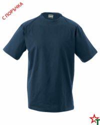 Navy Тениска Oval Medium