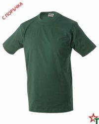 Bottle Green Тениска Oval Medium