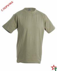 Khaki Тениска Oval Medium