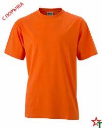 Orange Тениска Oval Medium