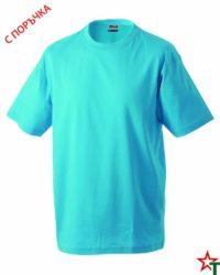 Azure Blue Тениска Oval Medium