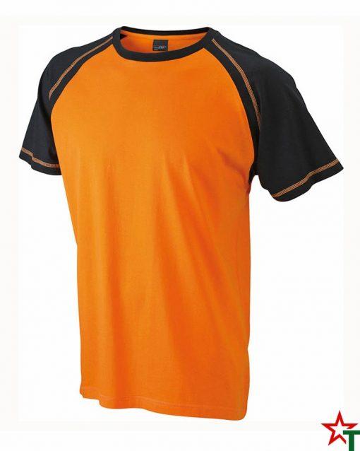 Orange-Black Мъжка тениска Men D Reglan