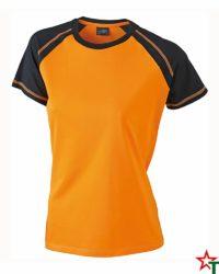 Orange-Black Дамска тениска Lady D Reglan