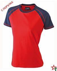 Red-Navy Дамска тениска Lady D Reglan
