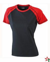 Black-Red Дамска тениска Lady D Reglan