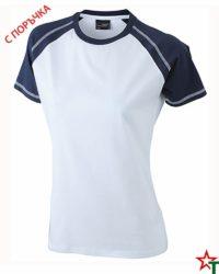 White-Deep Navy Дамска тениска Lady D Reglan