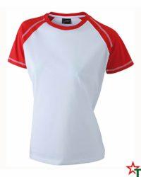 White-Red Дамска тениска Lady D Reglan