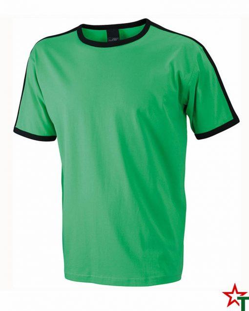 Green-Black Мъжка тениска Double Flag