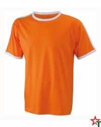 Orange-White Мъжка тениска Double Flag