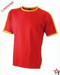 Red-Yellow Мъжка тениска Double Flag