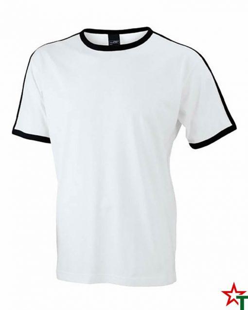White-Black Мъжка тениска Double Flag