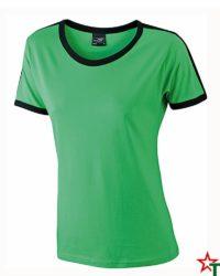 Green-Black Дамска тениска Double Flag