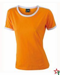 Orange-White Дамска тениска Double Flag