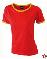 Red-Yellow Дамска тениска Double Flag