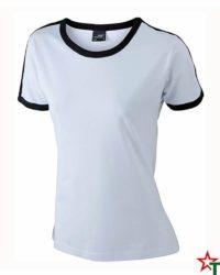 White-Black Дамска тениска Double Flag