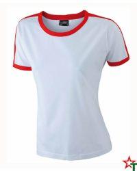 White-Red Дамска тениска Double Flag