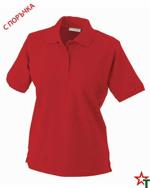 Red Дамска риза Lady Classic Polo